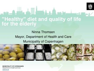 """Healthy"" diet and quality of life for the elderly"