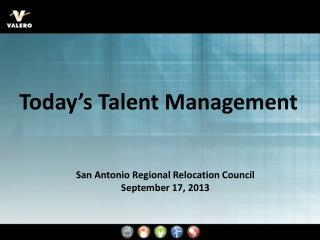 San Antonio Regional Relocation Council September 17, 2013
