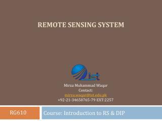 Remote sensing system