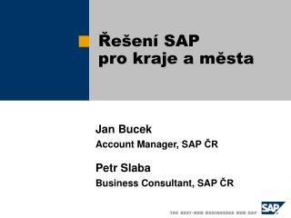 Řešení SAP  pro kraje a města