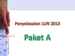 Penyelesaian  LUN 2013