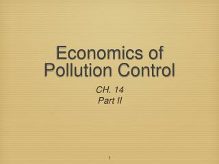 Economics of Pollution Control
