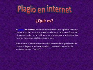 P lagio en internet