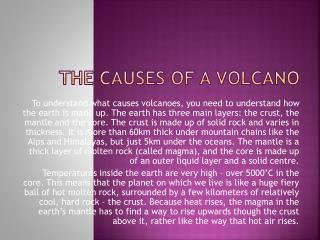 The causes of a volcano