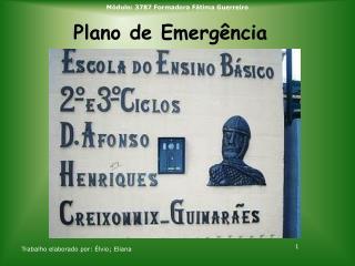 Plano de Emerg�ncia