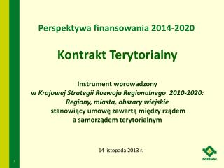 Perspektywa finansowania 2014-2020