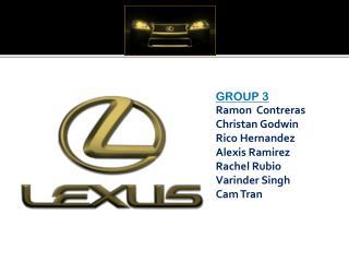 GROUP 3 Ramon  Contreras Christan Godwin Rico Hernandez Alexis Ramirez Rachel Rubio Varinder Singh