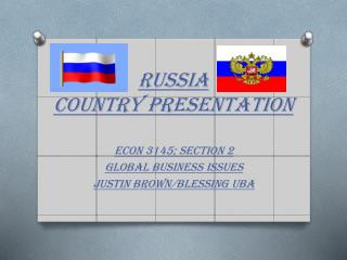 Russia  Country Presentation