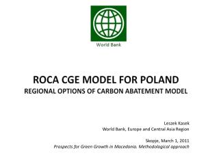ROCA CGE model for Poland Regional Options of Carbon Abatement model