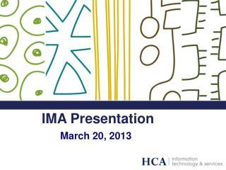 IMA Presentation