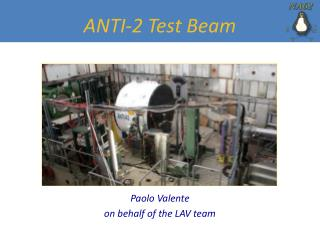 ANTI-2 Test Beam