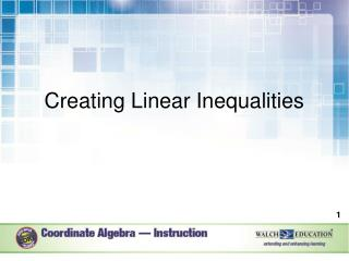 Creating Linear Inequalities