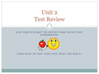 Unit 2 Test Review