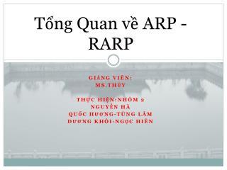 Tổng Quan về  ARP -RARP