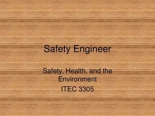 Safety Engineer