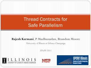 Thread Contracts for  Safe Parallelism