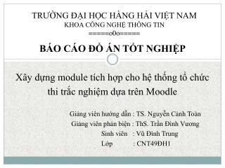TRƯỜNG ĐẠI HỌC HÀNG HẢI VIỆT NAM KHOA CÔNG NGHỆ THÔNG TIN =====o0o=====