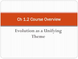 Ch 1.2 Course Overview