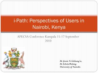 i-Path: Perspectives of Users in Nairobi, Kenya