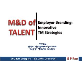 Employer Branding: Innovative  TM Strategies