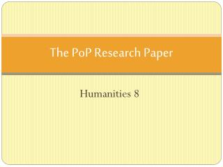 The  PoP  Research Paper