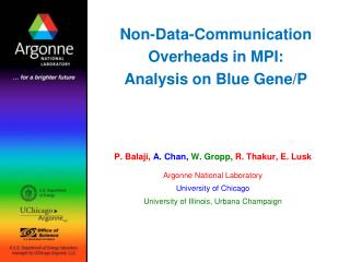 Non-Data-Communication Overheads in MPI: Analysis on Blue Gene/P