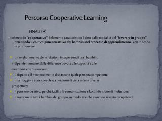 Percorso Cooperative  Learning