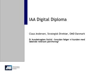 IAA Digital  Diploma