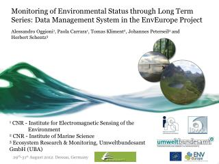 1  CNR - Institute for Electromagnetic Sensing of the               Environment