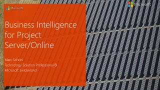 Business Intelligence for Project Server/Online