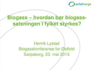 Biogass –  hvordan bør biogass-satsningen i fylket styrkes?
