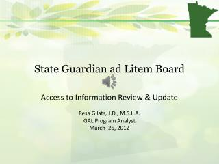 State Guardian ad Litem Board