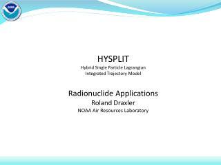 HYSPLIT Overview