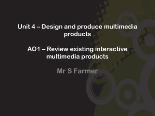 Mr S Farmer