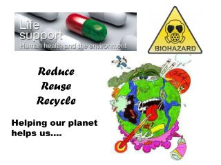 Reduce Reuse  Recycle Helping our planet helps us….