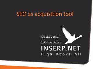 SEO  as acquisition tool