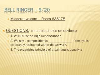 Bell Ringer  –  9/20