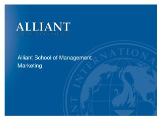 Alliant School of Management Marketing