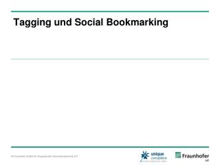 Tagging und Social Bookmarking