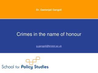 Dr.  Geetanjali Gangoli