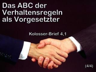 Das ABC der Verhaltensregeln als Vorgesetzter