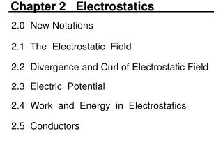 Chapter 2   Electrostatics
