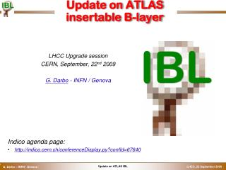 Update on ATLAS  insertable  B-layer