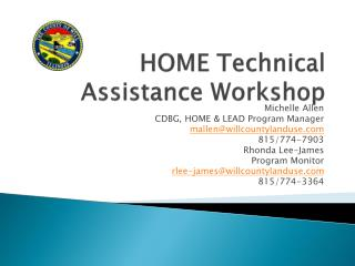 HOME  Technical Assistance Workshop