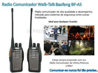 Radio  Comunicador Walk-Talk  Baofeng BF-A5