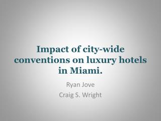 Impact of city-wide conventions on luxury hotels in Miami.