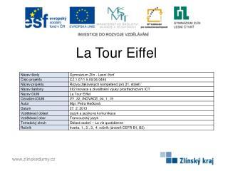 La  T our Eiffel