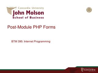 Post-Module PHP  Forms