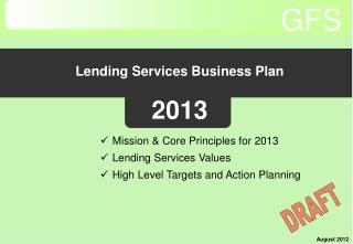 Lending Services Business Plan 2013