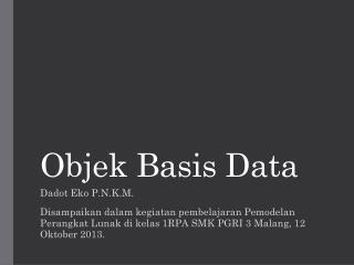 Objek Basis Data